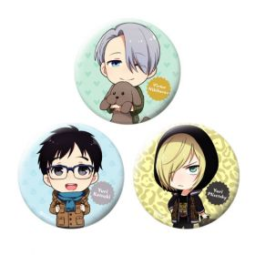 Yuri on Ice - Chara-Forme Can Badge Collection (Set B)