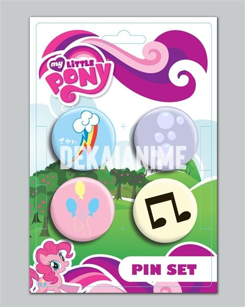 My Little Pony Cutie Mark 4 Pack Pin Set